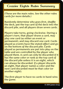 rules card summary