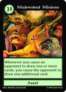 16 green malevolent minions