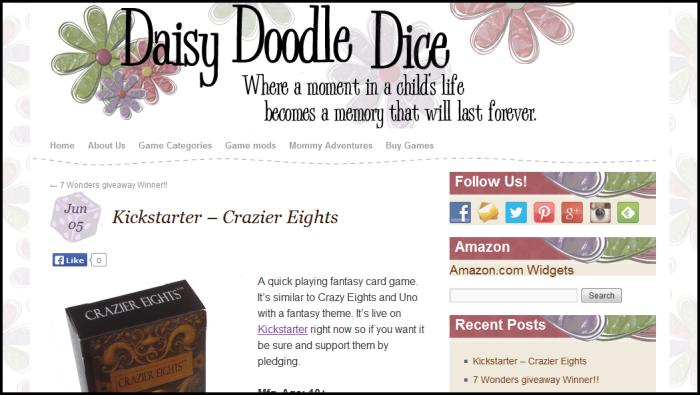 daisy doodle dice