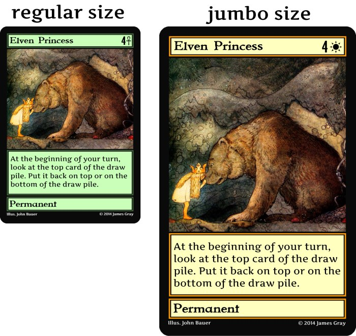 regular vs jumbo