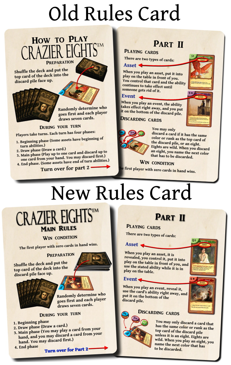 rules cards old and new