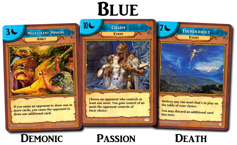 blue cards