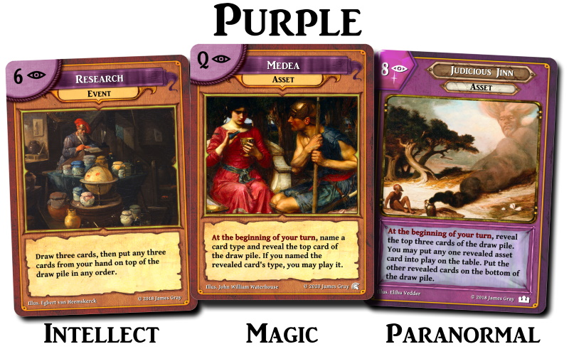 purple cards